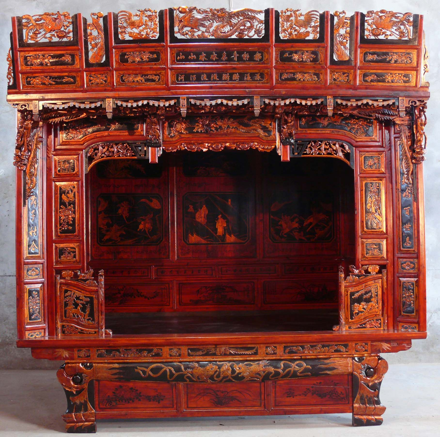 Chinese traditional beds for South asian furniture